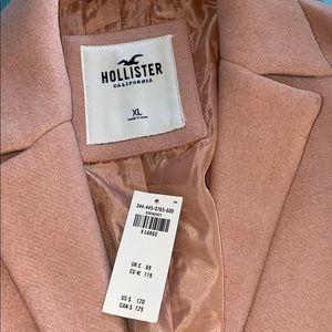 Pink hollister coat